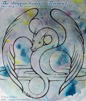 Tiamat: Dragon Goddess Whose Body Is the Earth  © Wicca-Spirituality.com