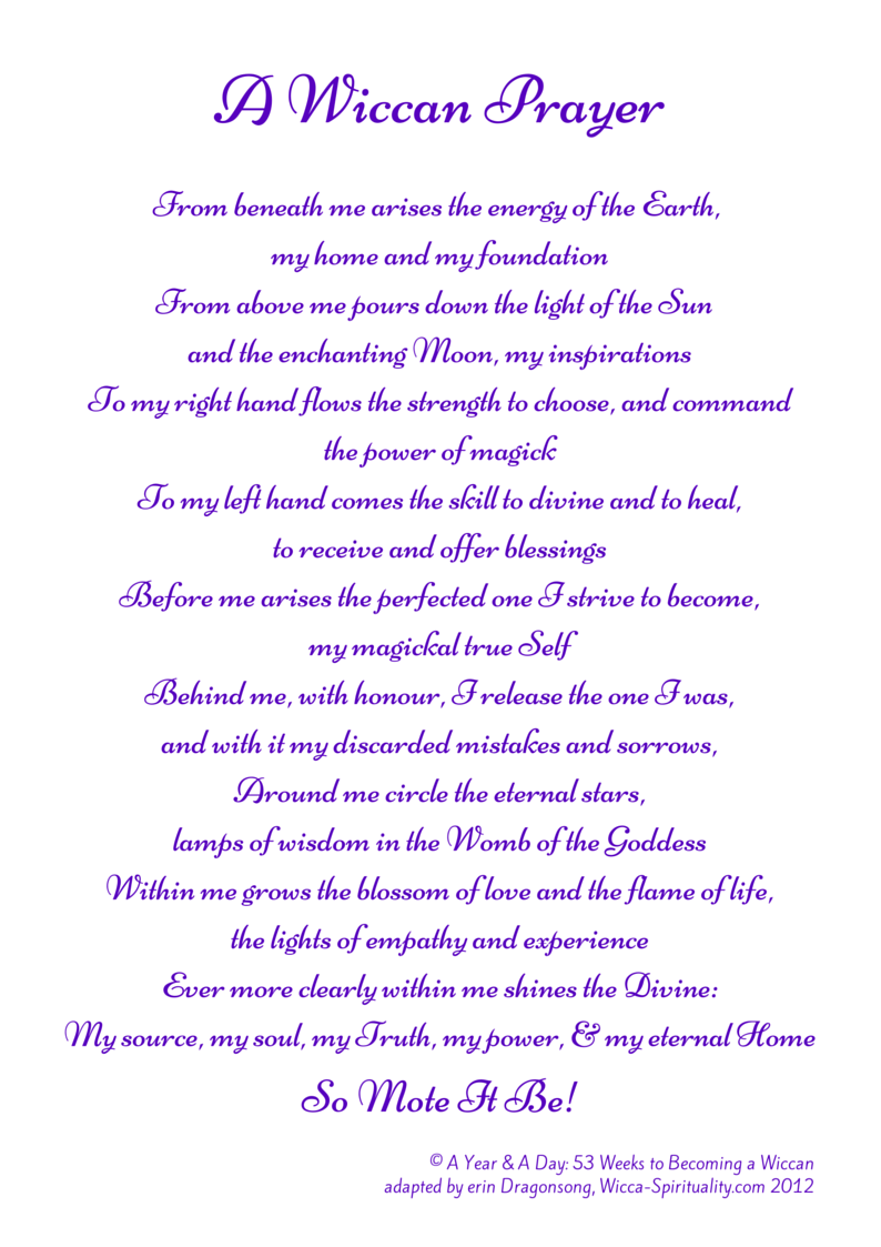 A Wiccan Prayer  © Wicca-Spirituality.com