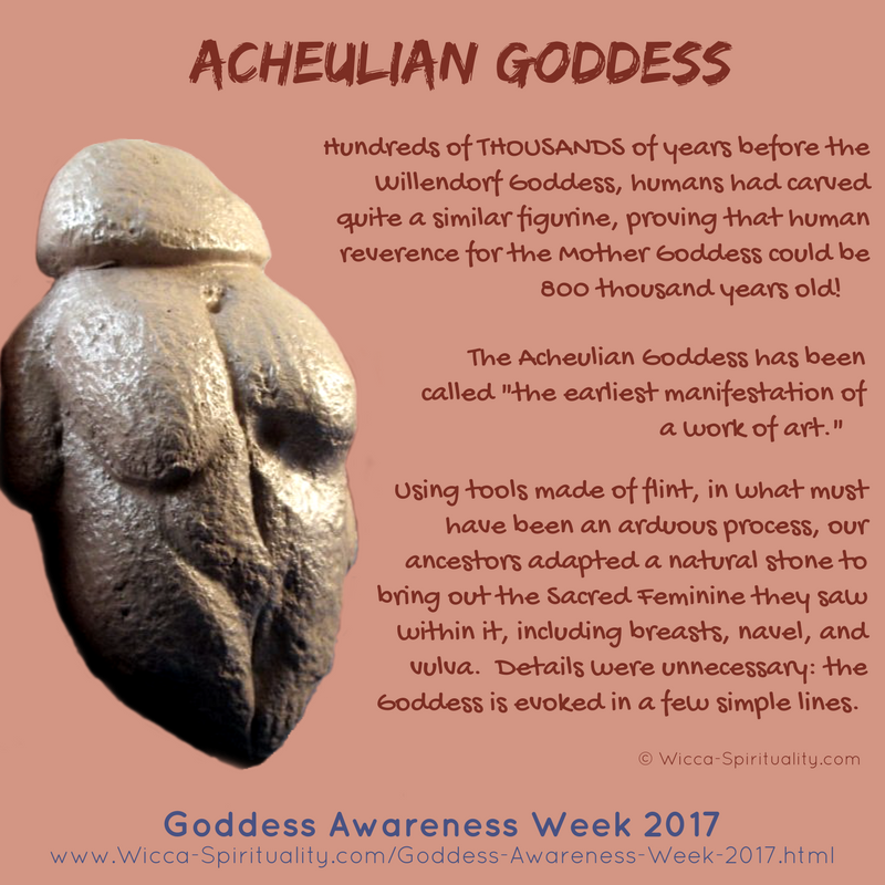 The Acheulian Goddess, REALLY Prehistoric Goddess © Wicca-Spirituality.com