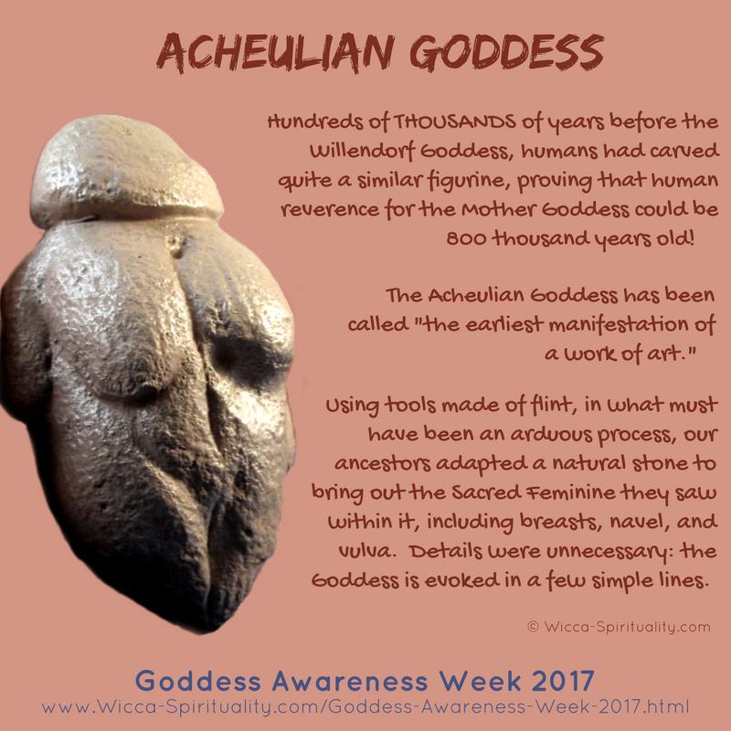 The Acheulian Goddess, REALLY Prehistoric Goddess © Wicca-Spirituality.com