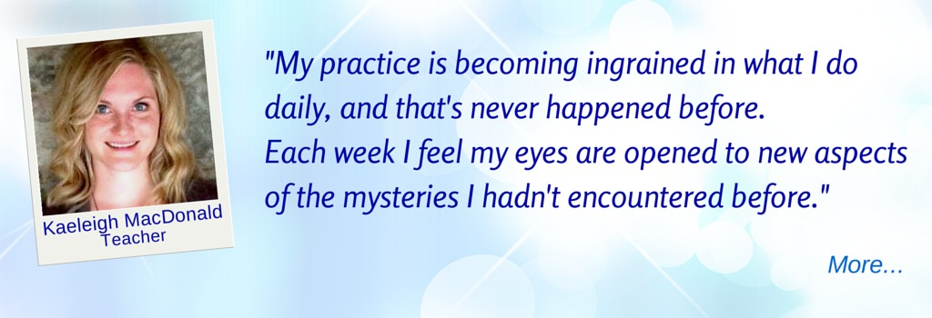 Each week brings new aspects of the mysteries. - KM © Wicca-Spirituality.com