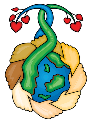 Earth Healers: Hands Around the Planet, Growing Love © Wicca-Spirituality.com