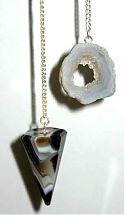 wicca-spirituality Gemstone pendulum