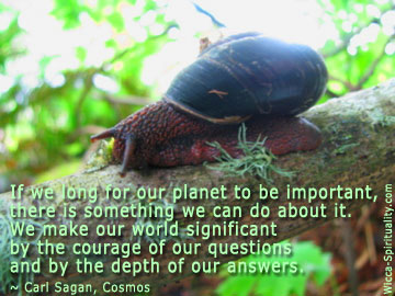 We Make The World Significant quote © wicca-spirituality.com
