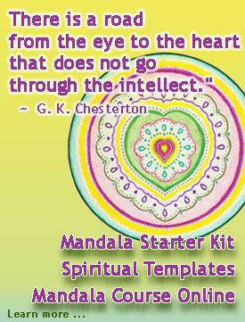 Mandala Starter Kit heart-road © Wicca-Spirituality.com