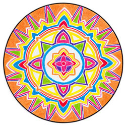 wicca-spirituality Orange Shield Mandala