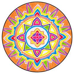 wicca-spirituality Orange Shield Mandala