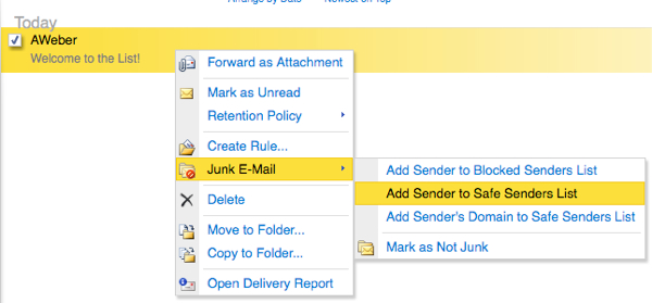 how to whitelist in Outlook Mail - Wicca-Spirituality.com