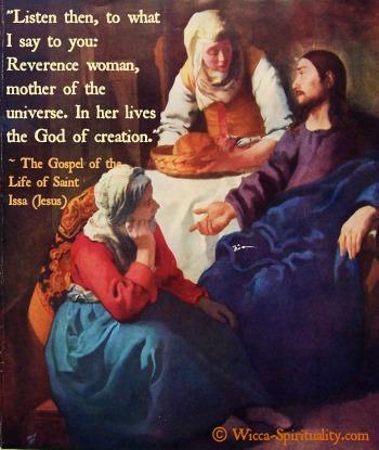 Jesus Saying  © Wicca-Spirituality.com