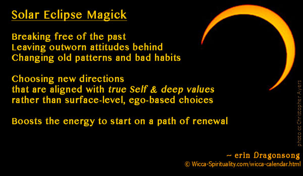Magickal Energy of Solar Eclipses   © Wicca-Spirituality.com