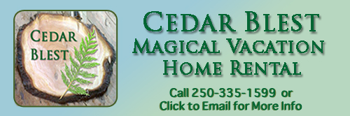 Magical Denman Island BC Vacation Home Rental Cabin - Call or Click to Email for More Information