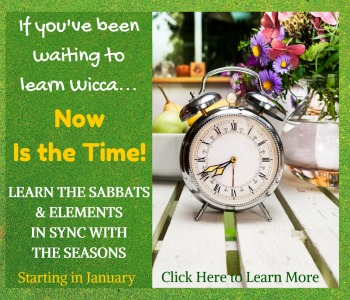 If you've been waiting to learn Wicca, now is the time!  A Year And A Day: Becoming a Wiccan  © Wicca-Spirituality.com