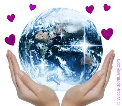 Earth Devotion © Wicca-Spirituality.com