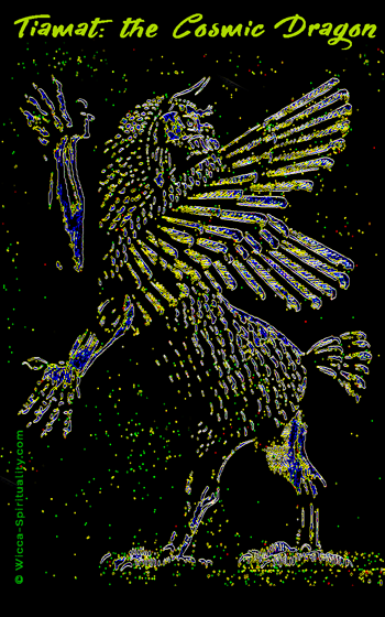 Tiamat: Cosmic Dragon Goddess, Griffin, Phoenix  © Wicca-Spirituality.com