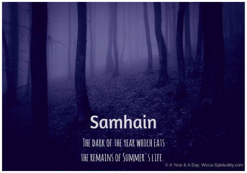 Samhain: The Dark of the Year which Eats the Remains of Summer's Life © Wicca-Spirituality.com